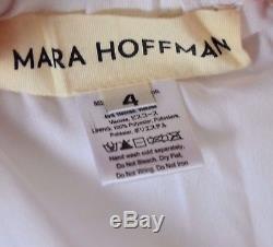 New Mara Hoffman Cravate Dos Broderie D'oiseaux Brodés Longue Robe De Soleil Maxi Us 4