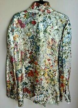 New Nwt Tory Burch Vanessa Bow Melody Robe Florale Chemisier En Soie Piste Top 14 Us