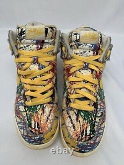 Nike 728443-100 Femmes Sz 6.5y Dunk High Premium Gribouillis Chaussures Multicolores