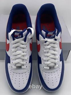Nike Air Force 1'07 White University Red Americana Cz9164-100 Chaussures Pour Hommes Nouveau