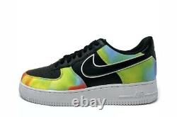 Nike Air Force 1 Low Lv8 Black Tie Dye Chaussures Pour Homme Sneaker Taille 10 Sold Out Nouveau