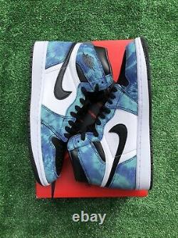 Nike Air Jordan 1 High Retro Og Tie Dye Cd0461-100 Taille 10.5with9m
