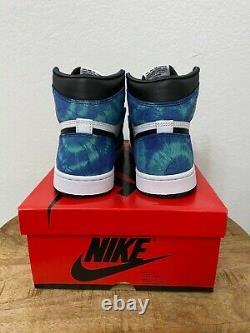 Nike Air Jordan 1 High Retro Og Tie Dye Taille 9,5 W / 8m Nouveau 100% Authentique
