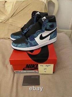Nike Air Jordan 1 High Retro Og Tie-dye Taille 9w Cd0461-100 Flambant Neuf