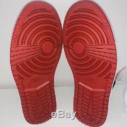 Nike Air Jordan 1 Retro Haute Og Mens Taille 8,5 Noir Rouge Bloodline 100% Authentique