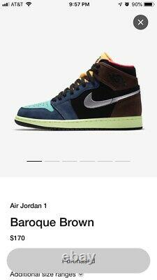 Nike Air Jordan Retro 1 High Bio Hack 555088-201 Taille 9.5 En Main