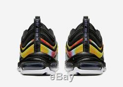 Nike Air Max 97 Tie-dye Noir Multicolore Ck0841-001 Pour Homme