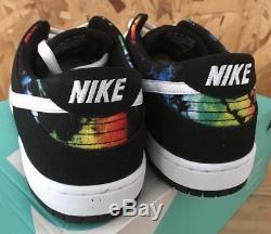 Nike Dunk Basse Pro Iw Sb Noir Blanc Multicolore Sz 11 Nib Tie Dye