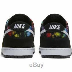Nike Dunk Low Pro Sb Iw Teinture Multicolore Arc-en-ciel Noir Blanc Lgbt Betrue 9.5
