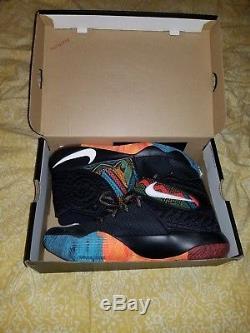 Nike Kyrie 2 II Bhm Noir Histoire Mois Tie Dye Jordan Kobe 828375-099 Taille 11.5