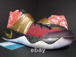 Nike Kyrie II 2 Équipe ID Rouge Or Noir Multicolor Tie Dye Rêve 843253-997 11.5