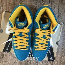 Nike Sb Dunk High Pro Sb Tropical Teal 305050-371 Taille Homme 11,5 Porté Une Fois