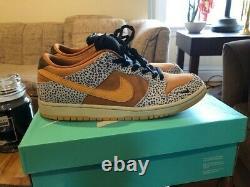 Nike Sb Dunk Low Safari Taille 11 Avec La Boîte
