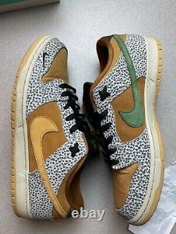 Nike Sb Safari Dunk Low Size 14 Cd2563-002 Livraison Gratuite 9/10 Og Receipt 100%aut