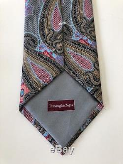 Nouveau $ 285 Ermenegildo Zegna Quindici Cravate Exotique Design # 106 Silk Limited Rare