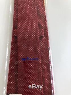 Nouveau $ 295 Cravate Kiton Stayning Pattern 7 Plis Rouges, Soie, Pois, En Provenance De L'italie