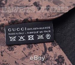 Nouveau Auth Gucci Cravate Floral Floral Imprimé Twill De Soie Multicolore 358894