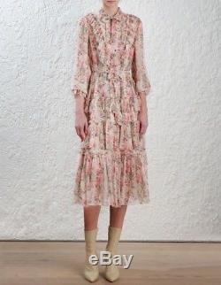 Nouveau Authentique Zimmermann Folly Neck Tie Dress 0/1/2
