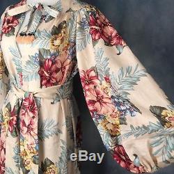 Nouveau Authentique Zimmermann Kali Hibiscus Cravate Décontracté Maxi Dress Au 0 1 2