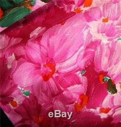 Nouveau Balenciaga Floral Rose Imprimer 100% Soie Sash Tie Top Shirt Blouse 36/4