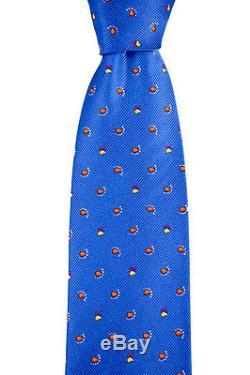 Nouveau Brioni Blue Micro Paisley 3.25 Soie Fait Main Handkchief Cravate Set Tno