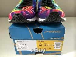 Nouveau Brooks Launch 5 Run Rock N Roll Marathon Tie Dye Femmes Chaussures Sz 9.5