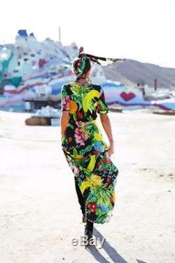 Nouveau Camilla Franks Appelez-moi Carmen Cravate Longue Soie Maxi Kaftan Robe 2 Medium