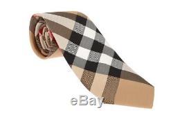 Nouveau Chemise Classique Actuelle Pour Hommes Burberry Cravate 100% Soie Avec Sac En Plastique Original