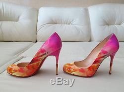 Nouveau Christian Louboutin Fifi 100 Tie Dye Patent Pump Heels 37 7 6.5 Simple
