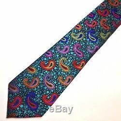 Nouveau Cravate 100% Soie Multicolore Lawrence Ivey Inspirée De L'artiste Marcel Duchamp