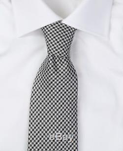 Nouveau Cravate Luxueuse En Soie Pied-de-poule Noire Et Blanche Tom Ford Nwt