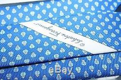 Nouveau Cravate Royale Classique En Soie Homme Salvatore Ferragamo Lady Bug Cravate Bleue Classique