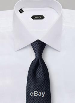 Nouveau! Cravate Tissée Noire Tom Ford 58,5 X 3,25 Po. 250 $ Tf30 Nwt