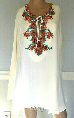 Nouveau Emilio Pucci Embellished Runway Tunic Top Silk Dress Kaftan Us 6 8 / It 44