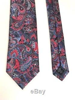 Nouveau Ermenegildo Zegna Cravate Multicolore Paisley Quindici 100% Soie Made In Italy