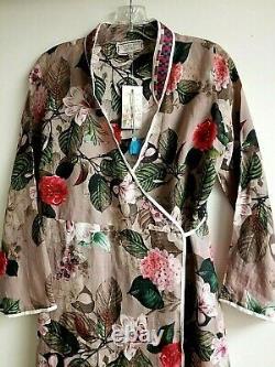 Nouveau Johnny Was Womens Kimono Robe Long Sz S Msrp $365 Brodé