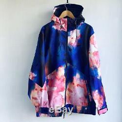 Nouveau Nike Sb Kampai Pushead Tie Dye Neon Imprimer Snowboard Veste 10k Grand L