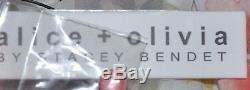 Nouveau Nwt $ 440 Alice + Olivia Leslie - Robe À Volants À Volants Et À Encolure Arrondie It 40 / Us 4