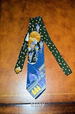 Nouveau Rare Vintage Leonard Paris Cravate Pour Maus & Hoffman Design Moderne En Soie France