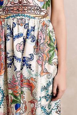 Nouveau Robe En Soie Acionna Anthropologie Tied Par Collette Dinnigan Sz 2p Gorgeous