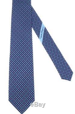 Nouveau Salvatore Ferragamo Gancio Cravate 100% Soie Avec Logo