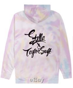 Nouveau Taylor Swift X Stella Tie Dye Brodé Amant Lyrique À Capuche! Dans La Main! Med