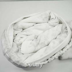 Nouveau Ugg Palisades King Size Couette Literie Cover Tie Dye Neige Off White Gris 250 $