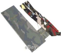 Nouveau Valentino Camouflage Actuel 100% Soie Modern Robe Col Cravate Avec Box