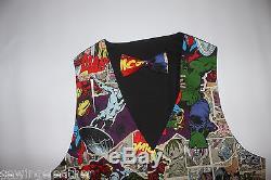 Nouveauté Batman, Superman, Marvel Ensemble Gilet Et Nœud Papillon S-3xl