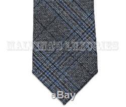 Nouvelle Auth Gucci Tie Prince Of Wales Imprimé À Carreaux En Laine Tissée Multicolore