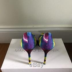 Nwb Manolo Blahnik Bb Tie-dye 105mm Taille De La Pompe 35,5