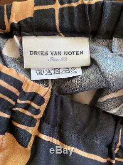 Nwot Dries Van Noten À Jambe Large Viscose Pantalon Fr 42 / Us 10