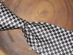 Tom Ford Cravate 5tf22 XTM B pied de poule Motifs Noir Soie