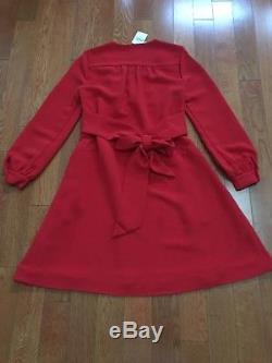 Nwt 368 $ Kate Spade Robe À Nouer Dans Le Dos Taille 4